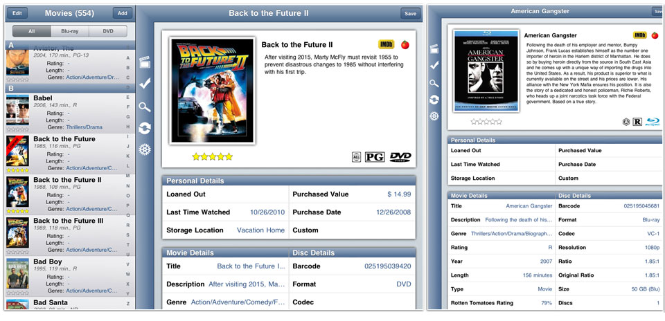 The ultimate movie software for cataloging your movie collection